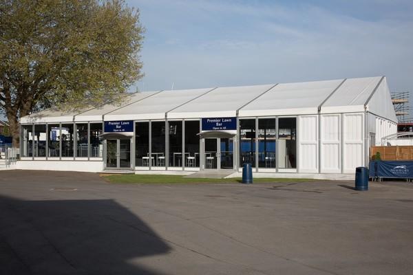 Premier Lawn Bar Tent 16m x 25m Losberger P3 uniflex