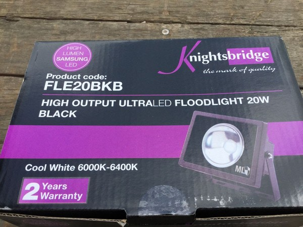 Waterproof LED Floodlights 20watt, with16a plug