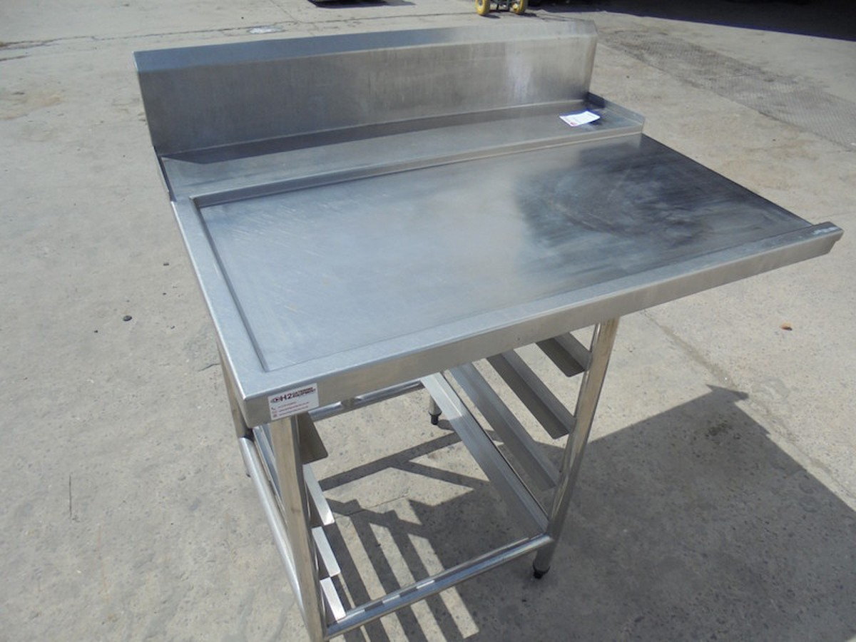 Secondhand Catering Equipment Pass Through Dishwasher Stainless - Stainless steel dishwasher table