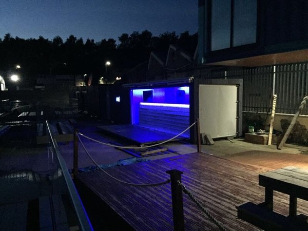 40ft Shipping Container Bar Fully cladded