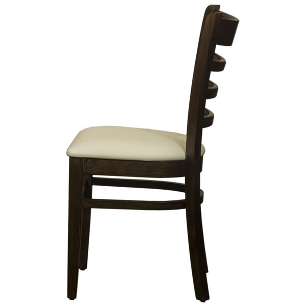 Belmont Ladder-back Walnut Side Chairs