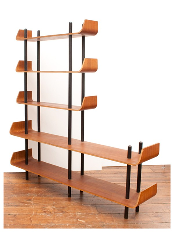 Bookcase in Teak and Bent Plywood