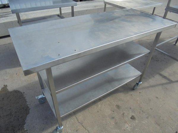 Stainless Steel Table & Gantry Shelf