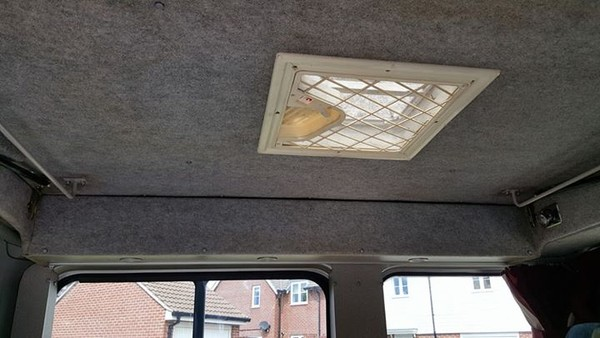 Roof vent for a camper van