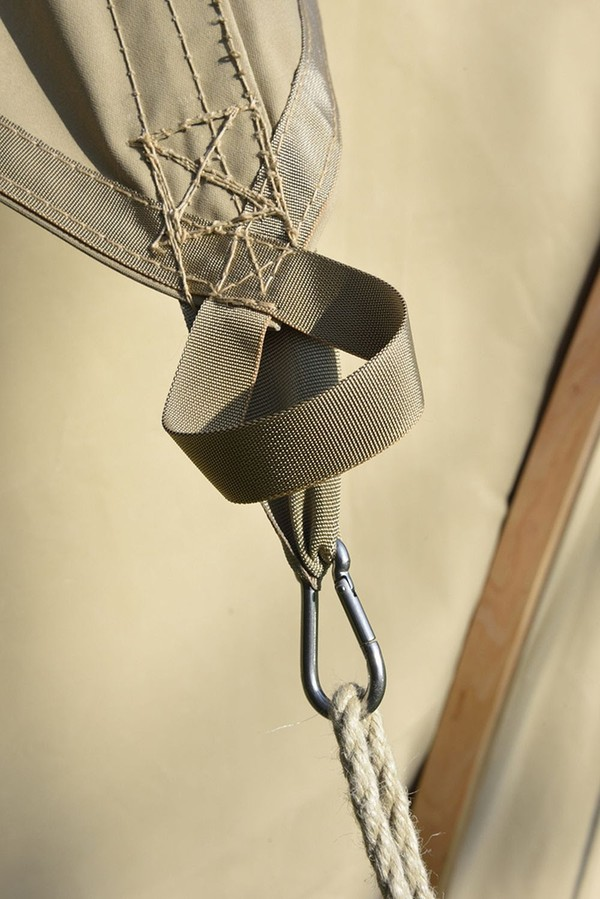 Guy rope attachment point.