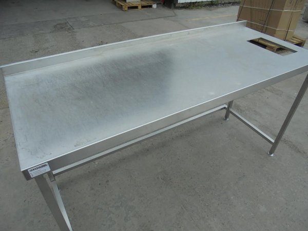 Stainless steel table 1.8m long
