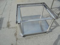 Oven stand in stainless steel