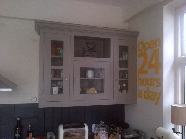 A Pair Of Plain Cupboards
