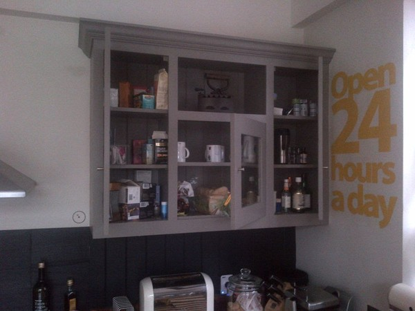 A Pair Of Plain English Cupboards