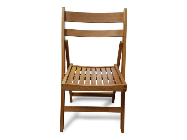 Lacquered Finish Folding Wooden Chairs
