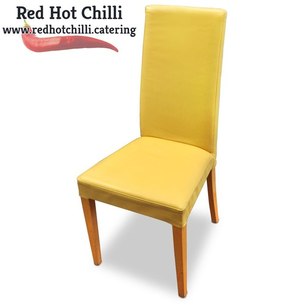 Yellow Upright Chairs
