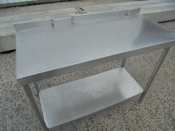 Used Stainless teel table with shelf