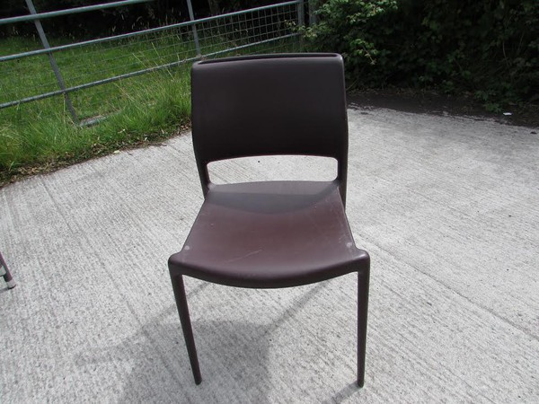 16 Good Quality Italian Poylprop Cafe Chairs