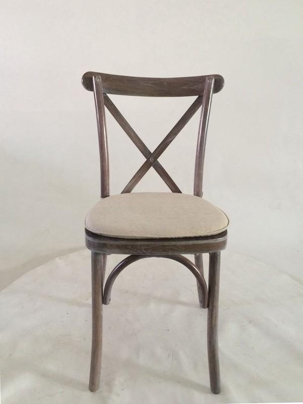 Lime Wash Cross Back Rustic Wedding Chair