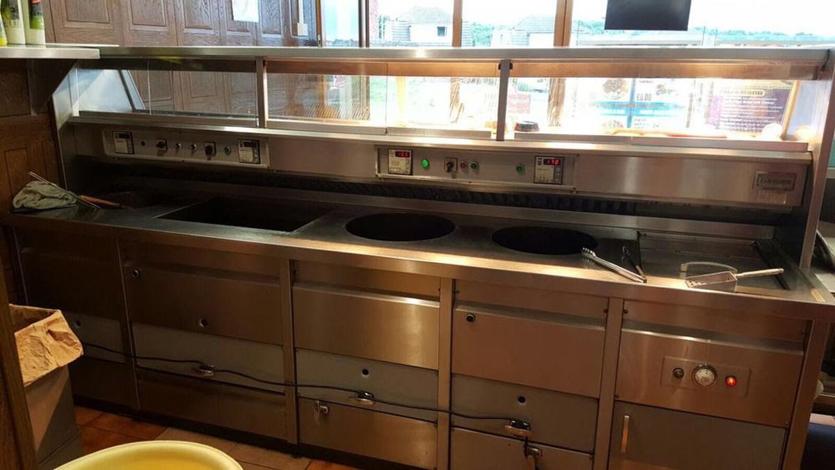Secondhand Catering Equipment Gas Fryers 4 Pan Florigo