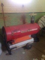 used diesel marquee heater