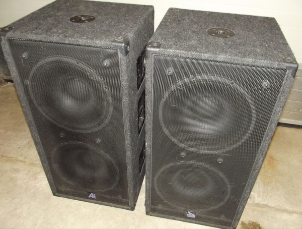Pair Of RCF Loaded 2 x 15 Inch Bass Bins
