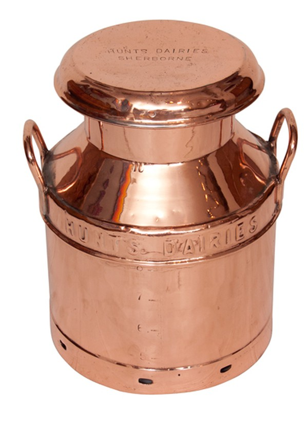 1940's Copper Milk Churn from Hunt's Dairies