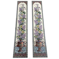 Restored Reproduction Floral Urn Fireplace Tiles