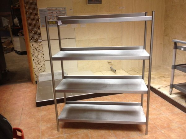 3x Bartlett Catering Stainless Steel Shelves - Walthamstow, London