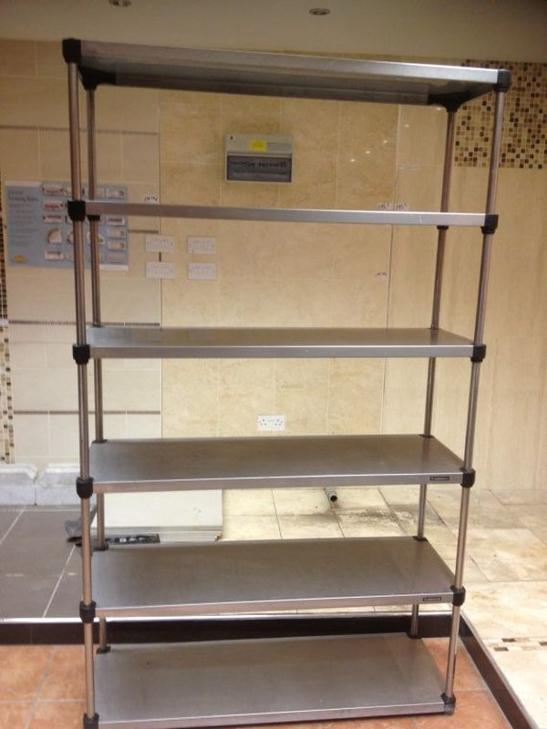 Stainless Steel Catering 6 Shelf Unit - Walthamstow, London