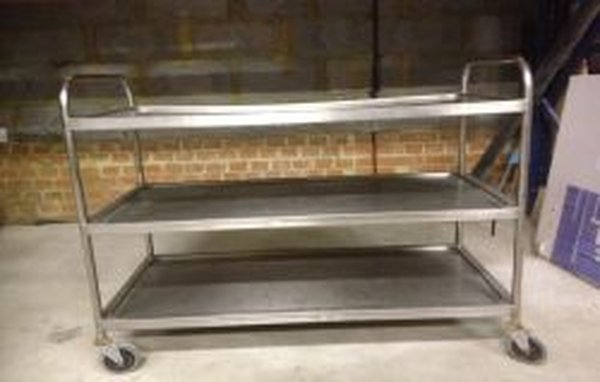 Stainless Steel Clearing Trolley - Walthamstow, London