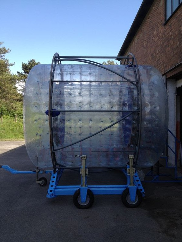 used spinfizz zorb water ride