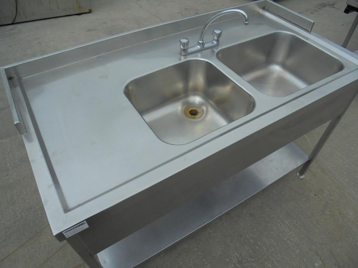 Secondhand Catering Equipment | Double Sinks | Stainless Steel ...