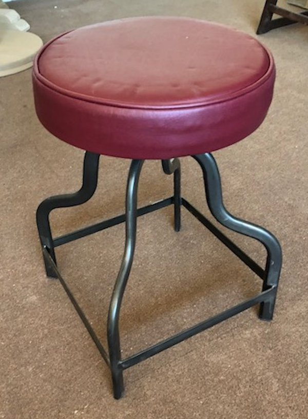 Industrial low bar stool