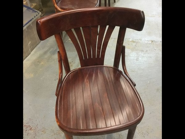 Bentwood chairs with fan back