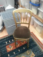 Gold Cheltenham Chairs Including Seat Pad