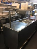 Plate Warming Cupboard / Bain Marie / Shelving with Hot Lamps