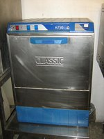 This Dishwasher is in full working order, has been fully tested by our engineers, and is in very good condition. This dishwasher will clean up to 360 plates per hour, cycle time three mins, drain pump, Stainless steel, basket size 500 x 500 Power supply 1