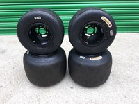 Douglas Magnesium kart Rims / Wheels With Komet Tyres For Rotax Classes