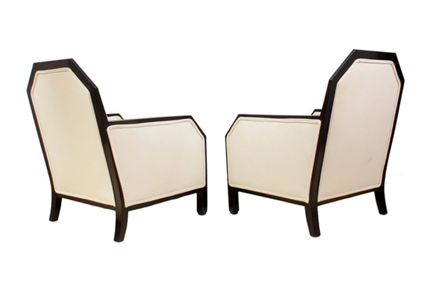 French Art Deco Leather Armchairs 1930