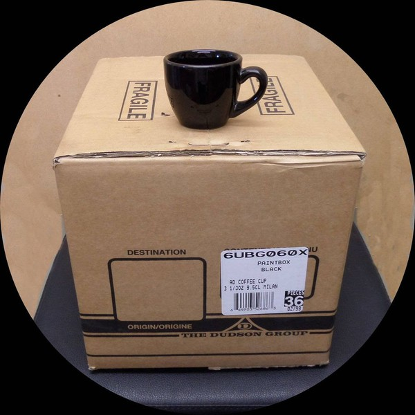 Dudsons Paintbox Black Gloss Bestware Espresso Cup 3oz