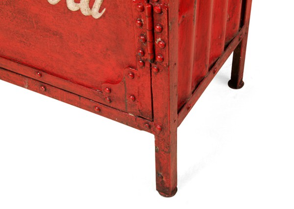 Industrial Steel Coca-Cola Factory Cupboard, Indian c.1956