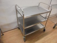 Stainless Steel 3 Tier Trolley (5318)