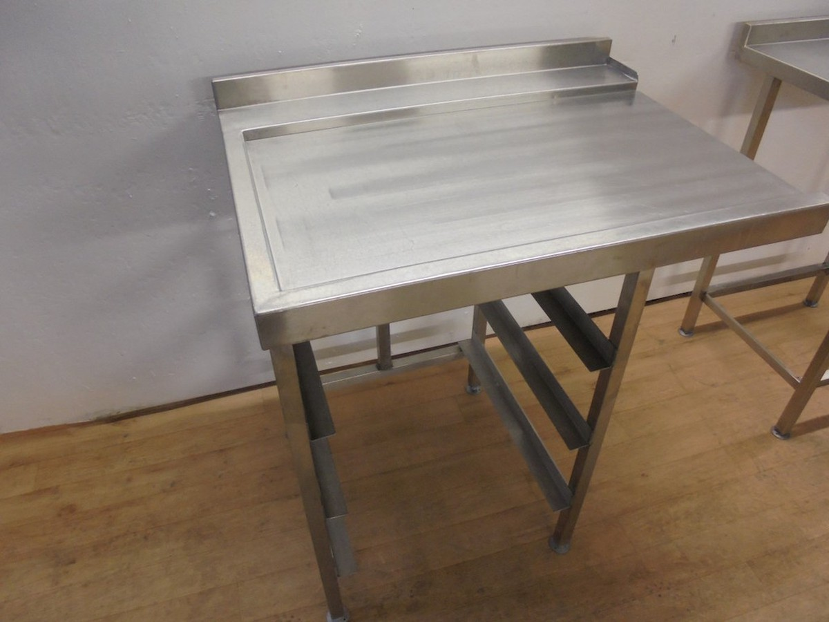 Secondhand Catering Equipment Cooling And Food Storage Racks - Stainless steel dishwasher table