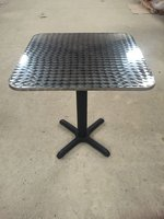 Aluminium cafe tables