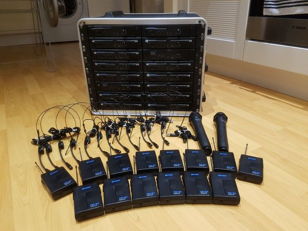 lavalier beltpack UHF wireless microphone radio mic system UF-1064 UF-1264