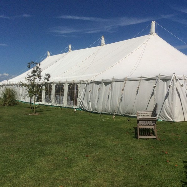 Wedding venue marquee