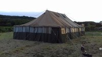 Rare Vintage 40s/50s Army Tent / Military Marquee 20' x 45'