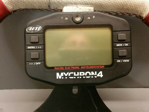 Aim Mychron 4 Kart Lap Timer used for Tonykart Alonso Kosmic Birel Rotax Iame