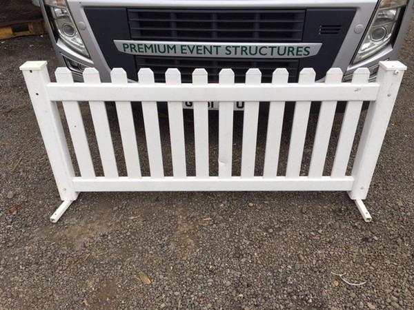 Signature White Plastic Picket Fencing - 2m Panels