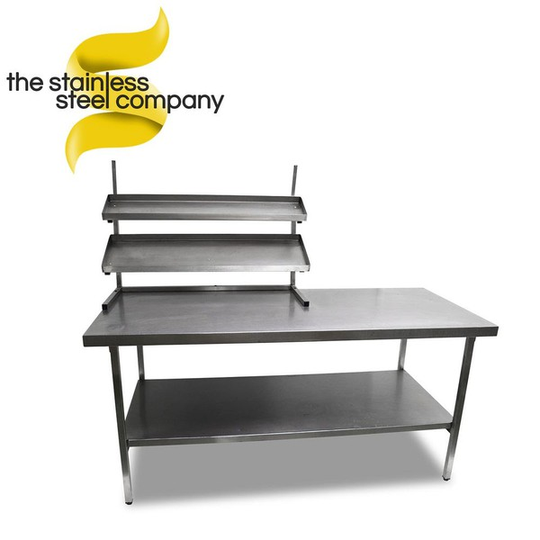1.8m Stainless Steel Bench With Gantry (Ref:SS142)