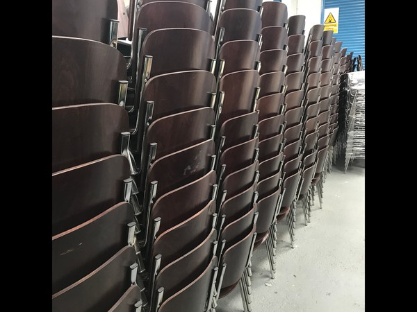 Nearly New Dark Wood ISO Conference Chairs