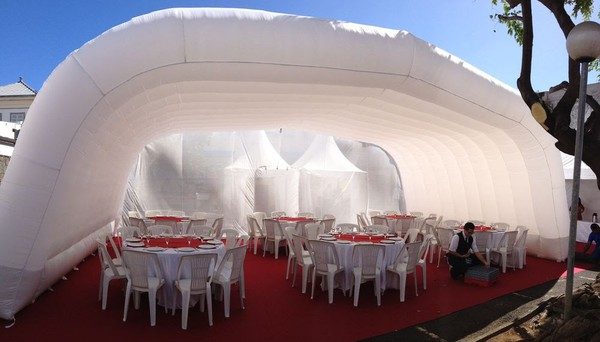 Unique Inflatable Tent / Roof in White Colour