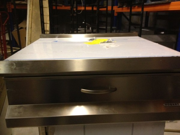 2x Hobart Stainless Steel Infill Piece with Drawers - Walthamstow, London