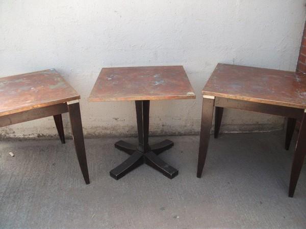 Copper Topped Restaurant /Café Tables